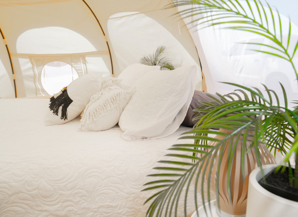 Luxurious Lotus Belle Eco Glamping tents